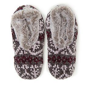 Women's Dearfoams Fairisle Knit Toasty Slipper Socks