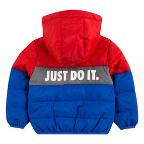Baby Boy Nike Just Do It Full Zip Puffer Hoodie