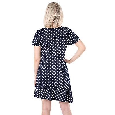 Petite Hudson & Harper Flutter Sleeve Asymmetrical-Hem Dress