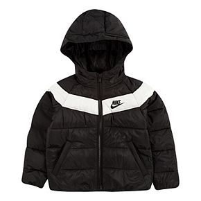 Toddler Boy Nike Puffer Quilted Heavyweight Hooded Jacket