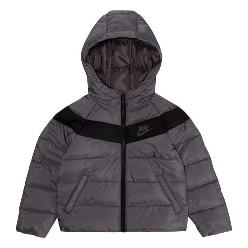 Toddler Boy Nike Puffer Quilted Zip Heavyweight Jacket