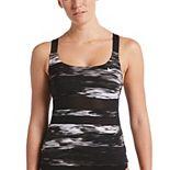 Women's Nike Print V-Back Tankini Top