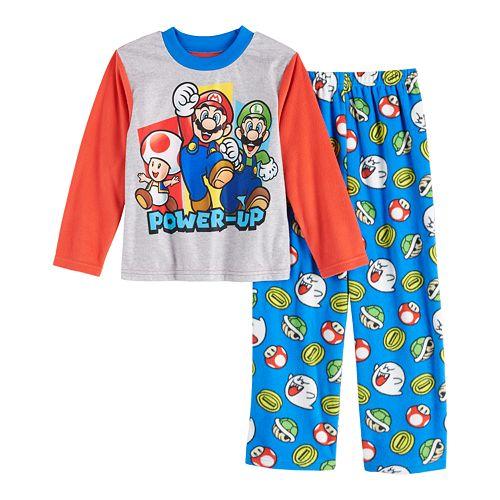 Boys 4-10 Nintendo Mario Bros Power-Up 2-Piece Pajama Set