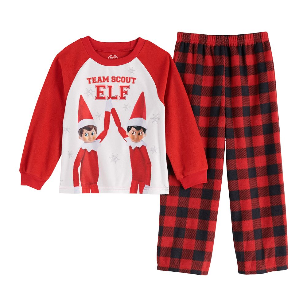 Boys 4-10 Elf On The Shelf Team 2-Piece Pajama Set