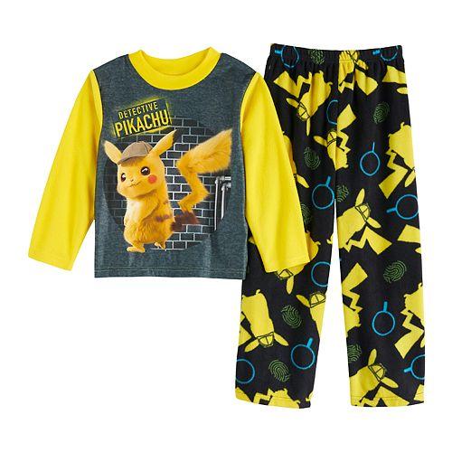 Boys 4-10 Detective Pikachu 2-Piece Pajama Set