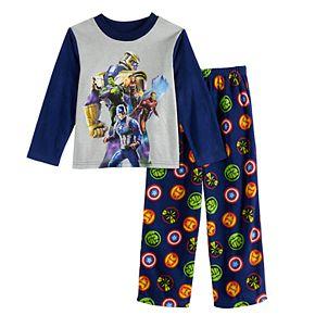 Boys 4-10 Marvel Avengers & Thanos 2-Piece Pajama Set