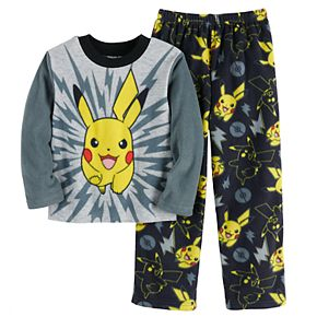 Boys 4-10 Pokemon Pikachu Coming At You 2-Piece Pajama Set