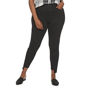 Juniors' Plus Size SO® High Rise Jankle Jeans
