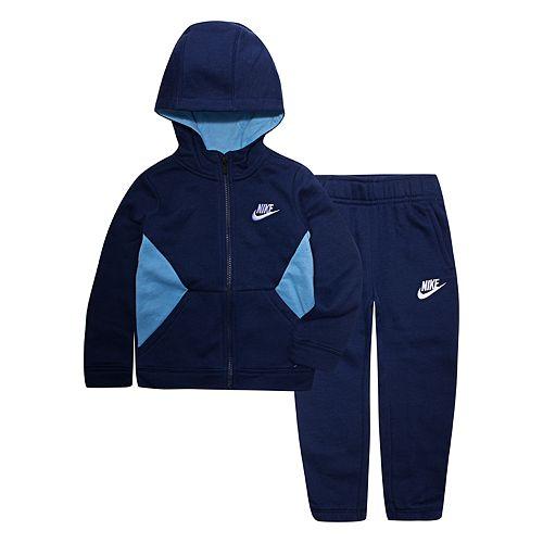 Toddler Boy Nike 2-Piece Fleece Zip Hoodie and Jogger Pants Set