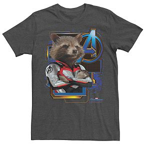 Men's Marvel Avengers Endgame Space Rocket Suit Tee
