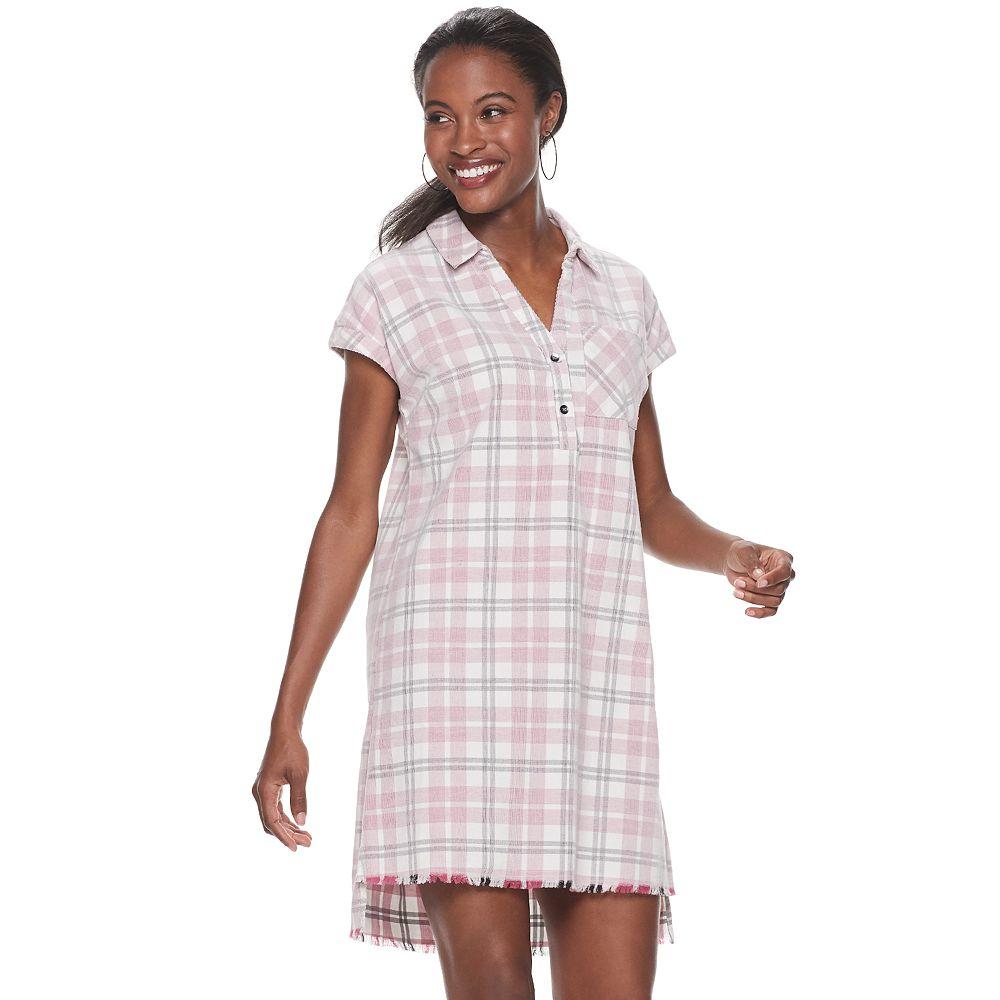 Women's Rock & Republic™ Frayed Hem Popover Dress