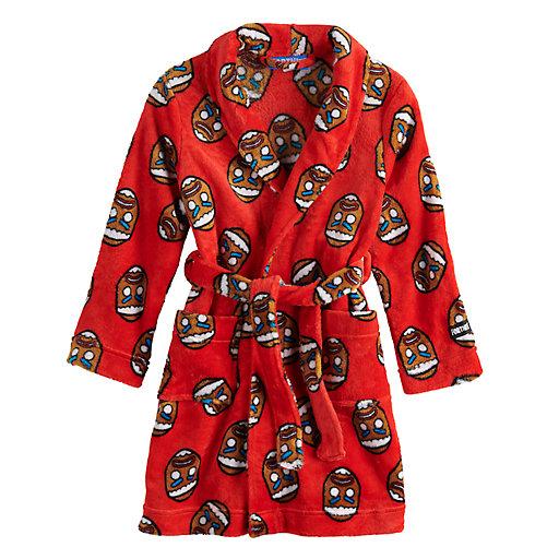 Fortnite Boys Fleece Robe Llama Long Sleeve Mid Length