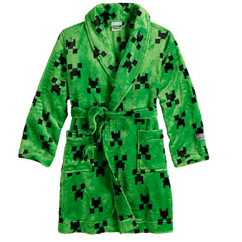 Boys 6-12 Minecraft Green Grin Robe