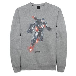 Men's Marvel Avengers War Machine Blast Off Painted Fleece Top