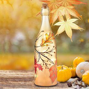 San Miguel Autumn Leaves Bottle Lighting