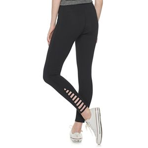 Juniors' SO® High-Waisted Side Strappy Leggings