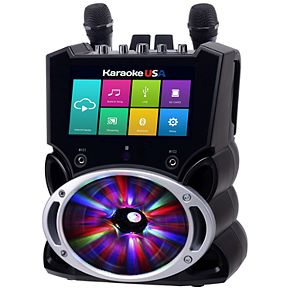"Karaoke USA Complete Wi-Fi Bluetooth Karaoke Machine with 9"" Touch Screen"