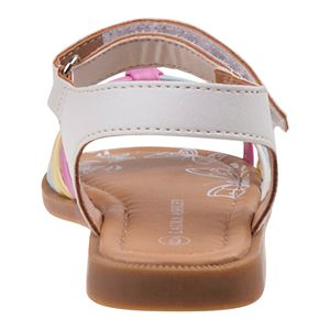 Laura Ashley Lifestyles Toddler Girls' Multicolor Strappy Sandals
