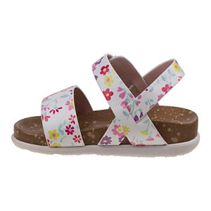 Laura Ashley Lifestyles Toddler Girls' Multi-Color Cork lining Sandals