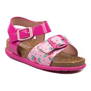 Laura Ashley Lifestyles Toddler Girls' Flower Cork lining Sandals