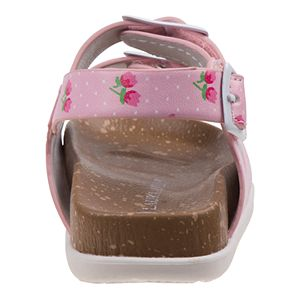 Laura Ashley Lifestyles Toddler Girls' Flower Cork lining Sandals
