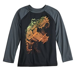 Boys 4-12 Jumping Beans Long Sleeve Dinosaur Active Graphic Tee