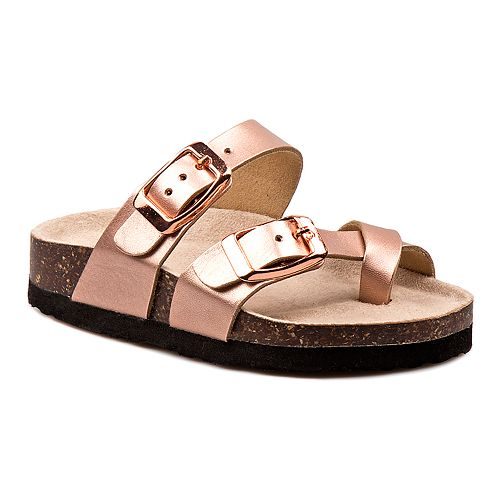 Laura Ashley Lifestyles Toddler Girls' Buckle Cork Lining Sandals