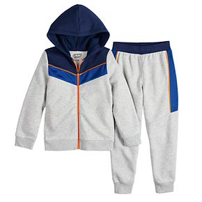 Boys 4-12 Jumping Beans® Chevron Pieced Athleisure Set