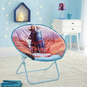 Disney's Frozen 2 Anna, Elsa, and Olaf Collapsible Saucer Chair