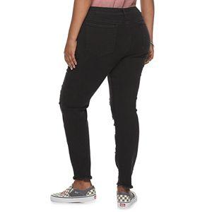 Juniors' Plus Size Mudd Mid-Rise Vintage Stretch Skinny Jeans