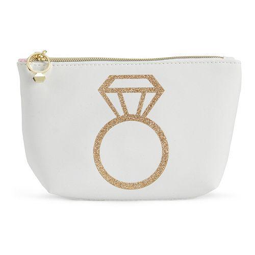 Jade & Deer Ring Bling Cosmetic Bag
