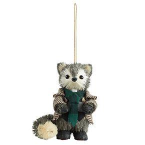 Scott Living Luxe Dapper Raccoon Christmas Ornament