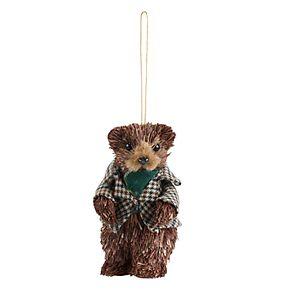 Scott Living Luxe Standing Bear Christmas Ornament
