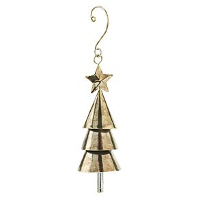 Scott Living Luxe Gold Finish Tree Christmas Ornament