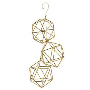 Scott Living Luxe Gold Wire Geometric Ornament