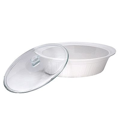 CorningWare French White Oval Roaster