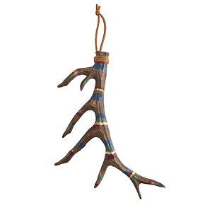 Scott Living Luxe Striped Antler Ornament