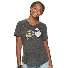 861f563d365 Juniors' Evergreen Disney's WALL-E V-Neck Graphic Tee