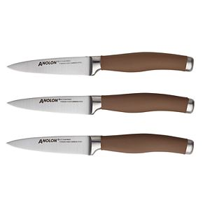 Anolon SureGrip 3-pc. Japanese Stainless Steel Paring Knife Set