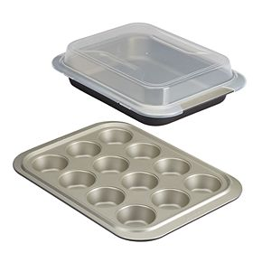Anolon Allure 3-pc. Nonstick Bakeware Set with Shared Lid