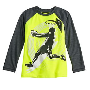 Boys 4-12 Jumping Beans® Long Sleeve Basketball Active Tee