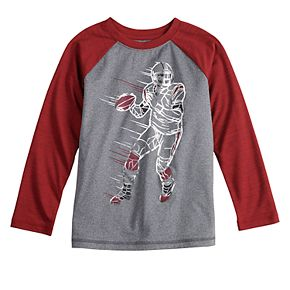 Boys 4-12 Jumping Beans Long Sleeve Football Active Graphic Tee
