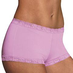 ff74c72a49a Maidenform Microfiber Lace-Trim Boyshorts 40760 - Women s. Razzleberry  Lavender. sale