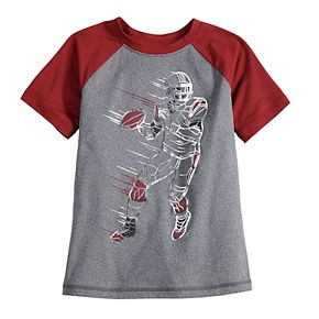 Boys 4-12 Jumping Beans® Short Sleeve Raglan Football Tee