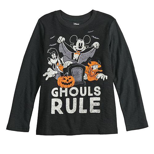 Boys 4-12 Disney's Mickey Mouse Spooky Season Long Sleeve Tee by Jumping Beans®