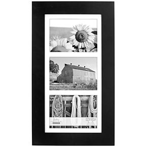 "Malden 3-opening 5""x 7"" Black Wall Frame"