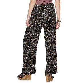 Juniors' Pink Republic Wide Leg Printed Pants