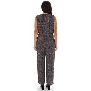 Women's Apt. 9® Sleeveless Button Front Cropped Jumpsuit with Pockets