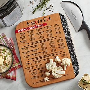 """Instant Pot Cook Times 11"""" x 14"""" Bamboo Cutting Board"""
