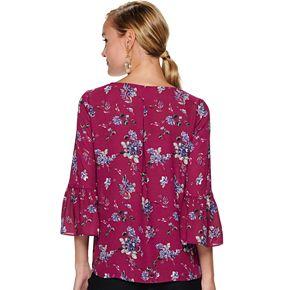 Women's ELLE? Woven Bell Sleeve Blouse
